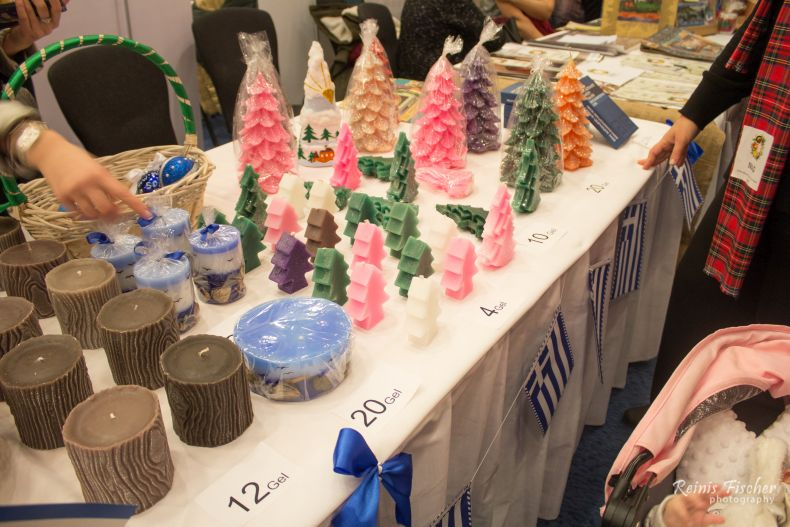Candles for sale at Winter Fair