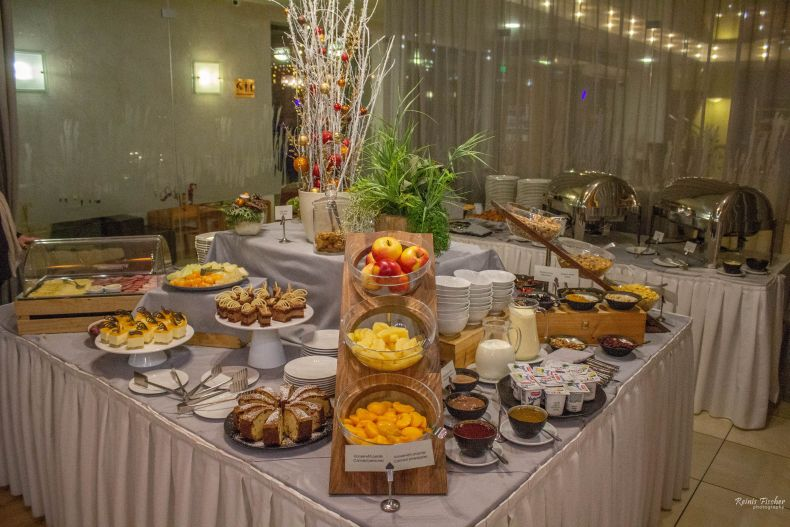 Buffet breakfast at Baltvilla hotel