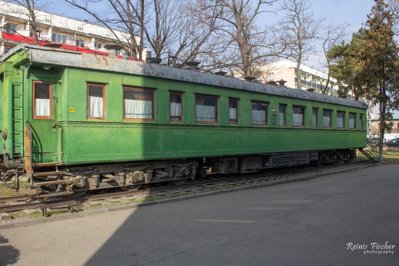Stalin's personal railway carriage, located outside the museum