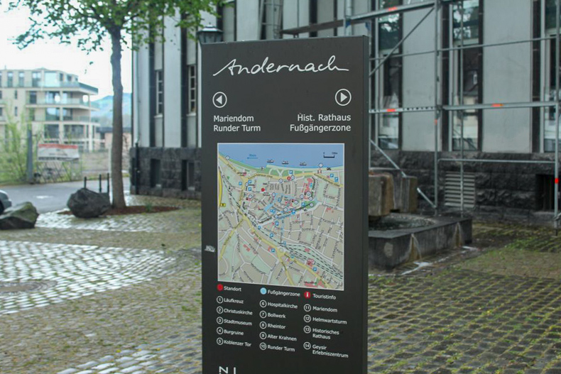 City plan of Andernach, Germany