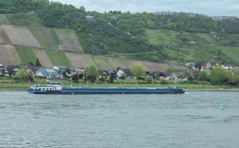 A nuggar sailing river of Rhine