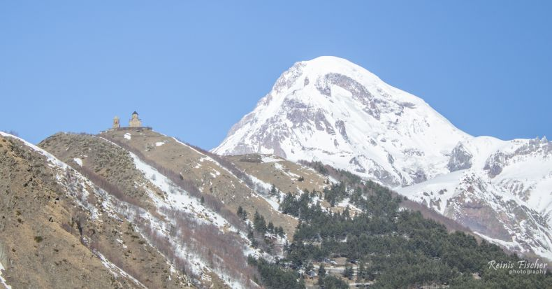 Mount Kazbek and Gergeti church