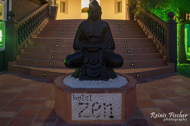 Statue of Buddha at Hotel Zen