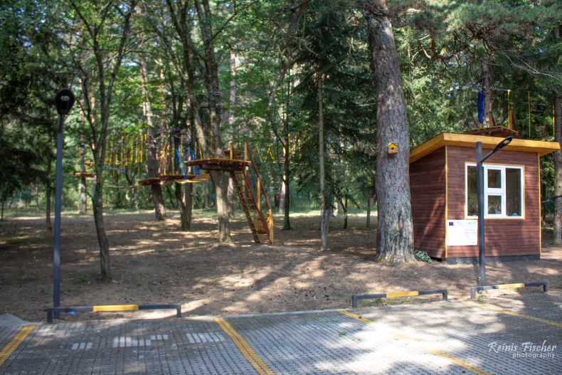 Forest adventure park at Algeti Vistors center