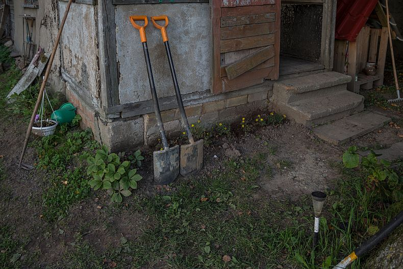 A pair of shovels