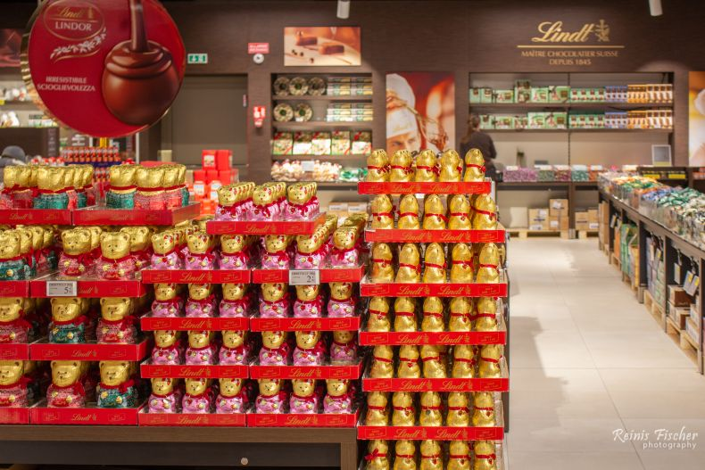Lindt factory shop in Induno Oluno