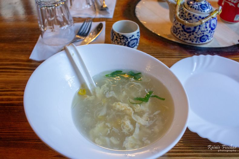 Soup with egg