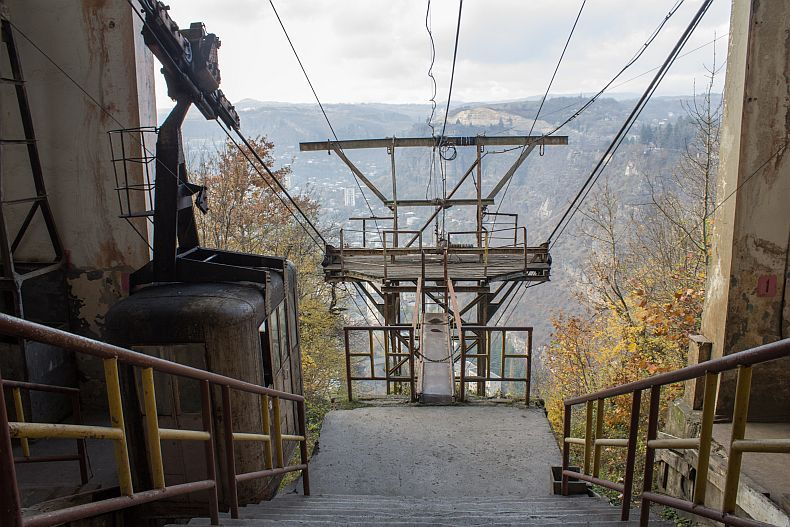 Upper cable way station in Chiatura