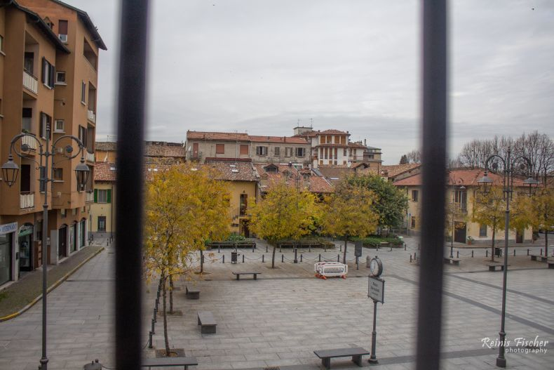 View to the nearby square from hotel