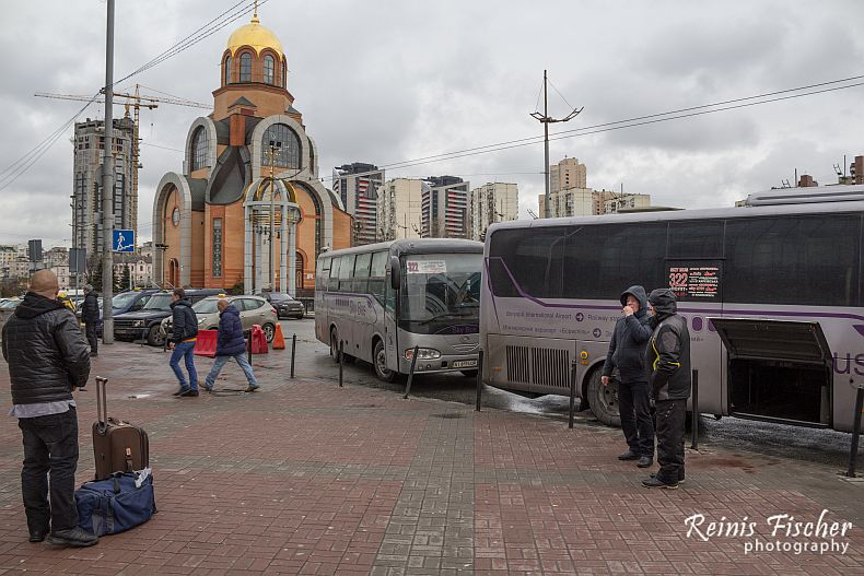 Buses serving Borispol airport