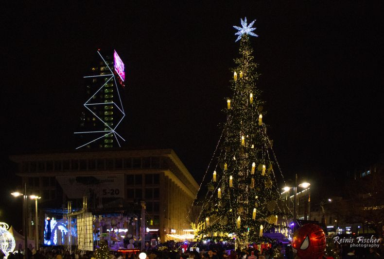 The Main Christmas tree in Tbilisi