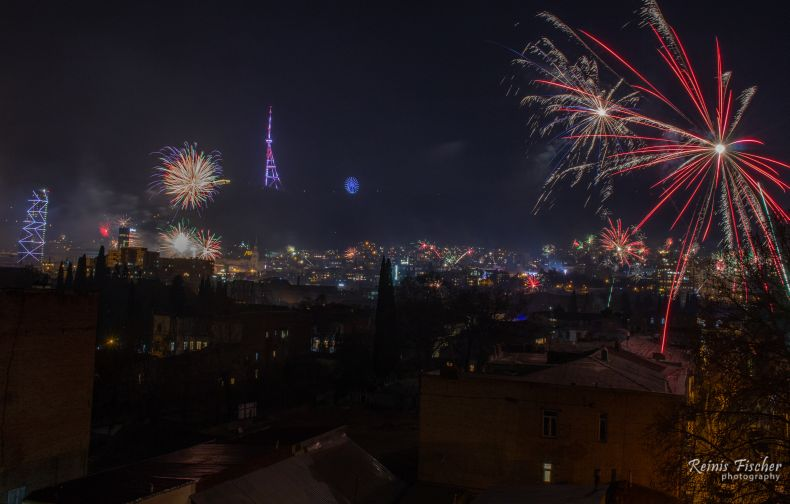 Fireworks from Tbilisi 2020
