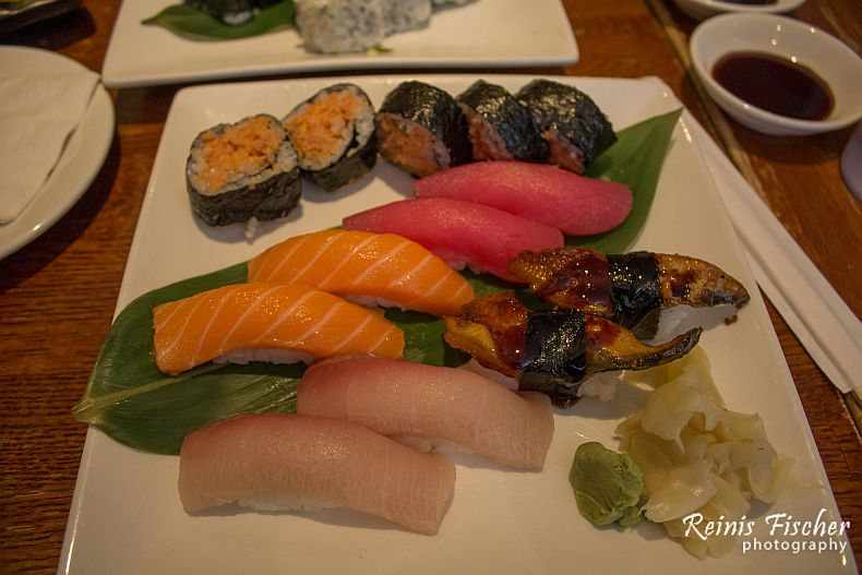 Sushi set at Zen Ramen and Sushi house