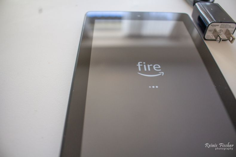Booting up Fire 7 tablet