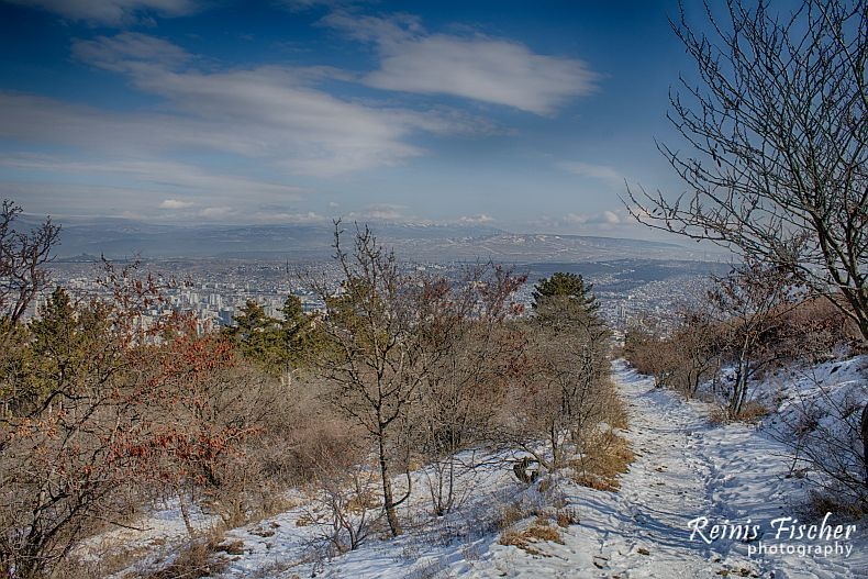Hiking trails in Tbilisi in Winter