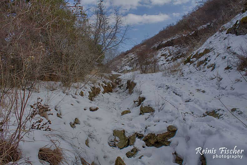 Snowy and steep trails