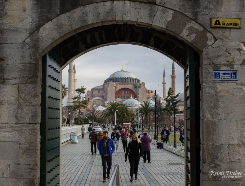 View towards Hagia Sophia cathedral