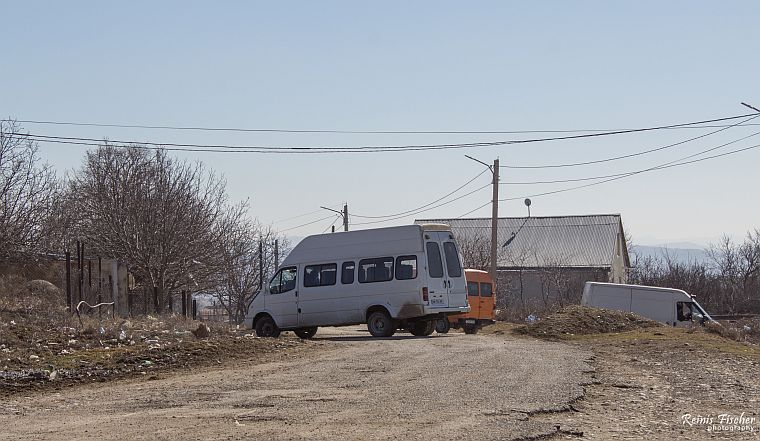 Marshrutka final stop at Norio village in Georgia