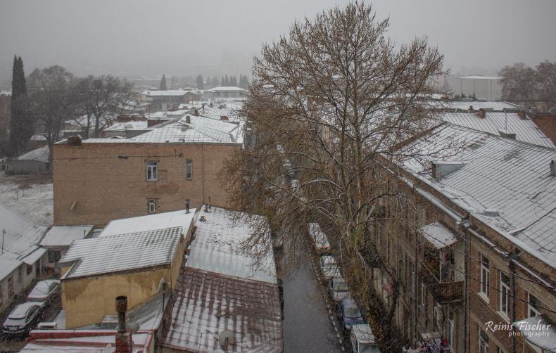 Snow in Tbilisi