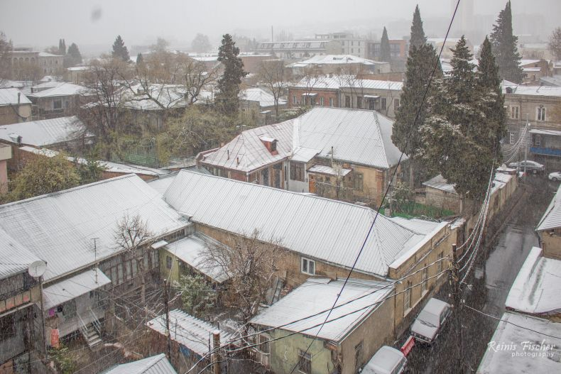 White rooftops in Tbilisi