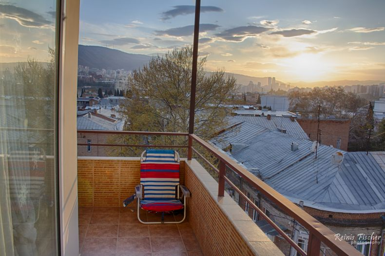 Our Tbilisi balcony in HDR at the last day of March 2020