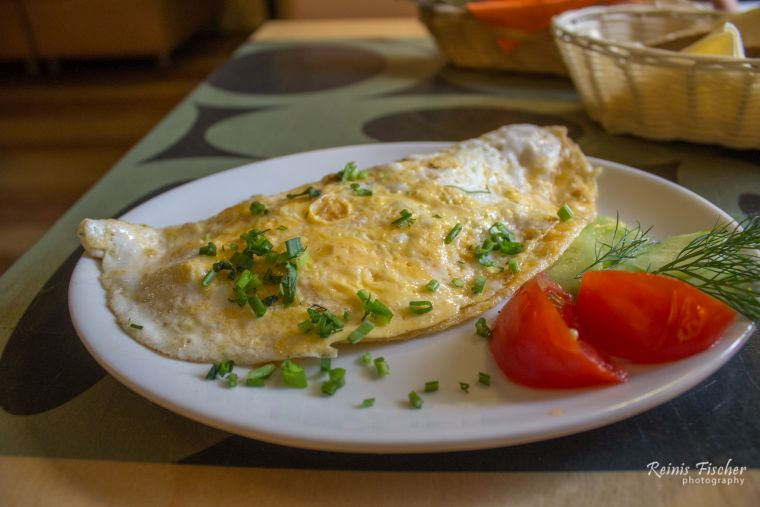 Omelet at cafe Kandava