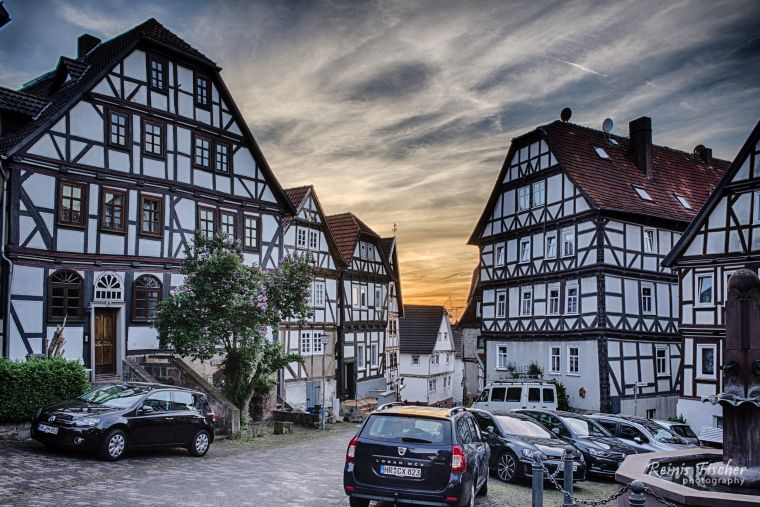 Sunset in Gudenberg, Germany