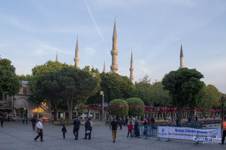 Minarets of the Blue Mosque in Istanbul