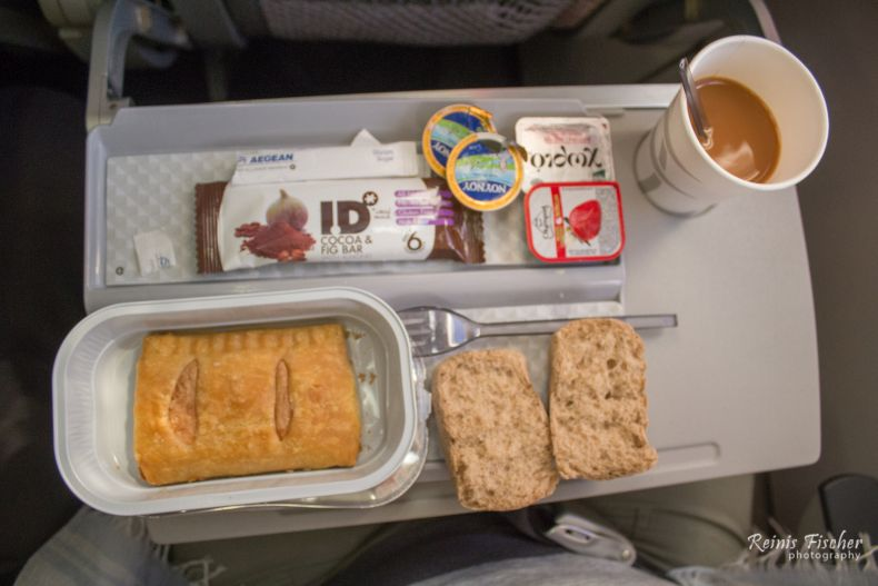 Free lunch during Tbilisi - Athens flight