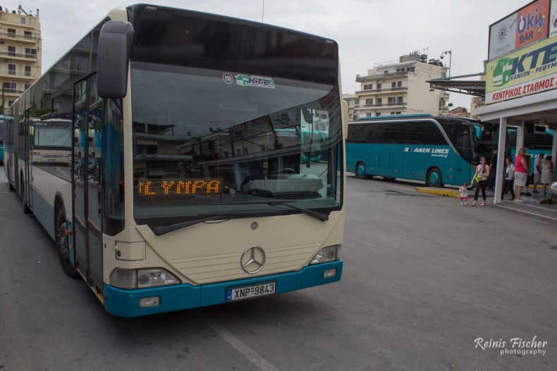 Mercedes Benz buses in Chania