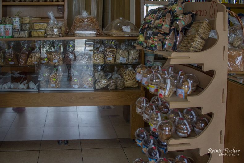 Cookies, buns and bread at Tampakakis Bakery