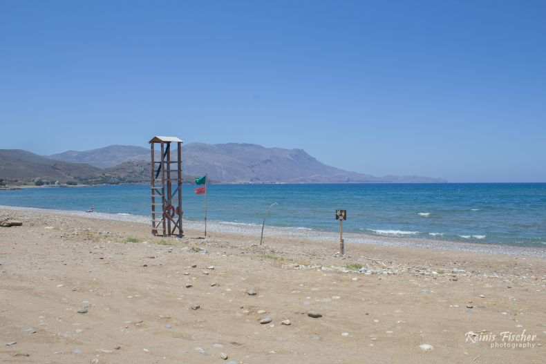 Mavros Molos beach near Kissamos, Crete
