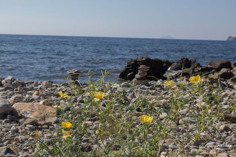 Rocky beaches at Crete