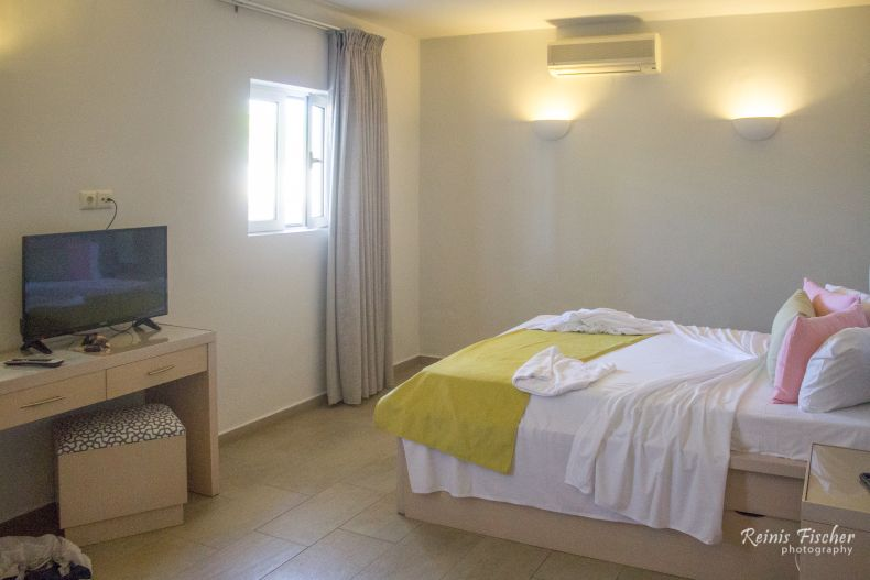 Our room at Kavos beach apartments in Crete