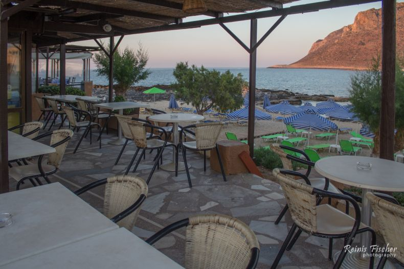 Outdoor deck at Thanasis taverna