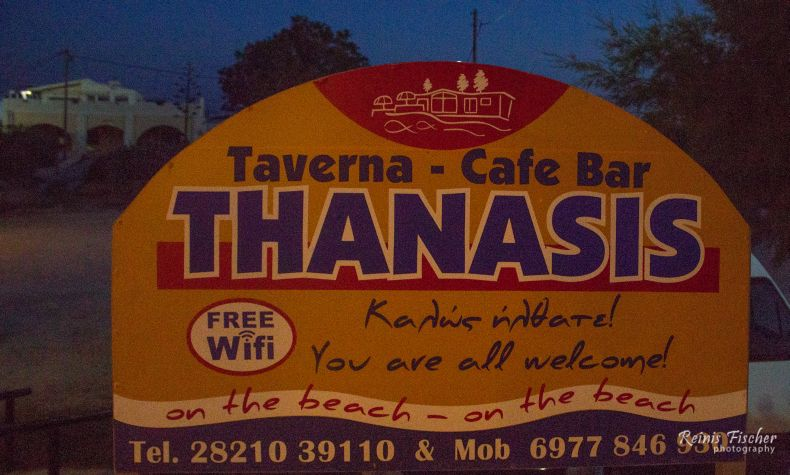 Contact info Taverna Thanasis Cafe bar in Stavros, Crete