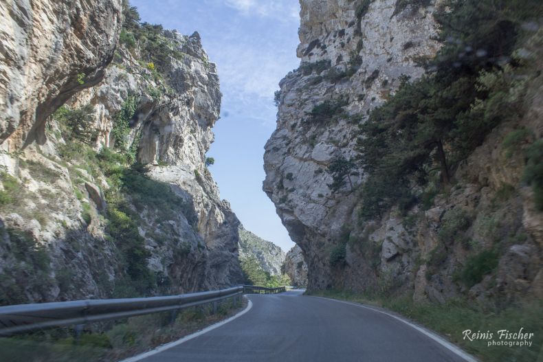 Narrow roads in Crete