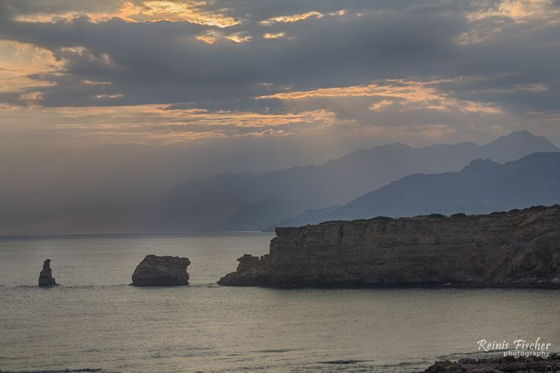 Sunset at Libyan Sea (telephoto HDR)