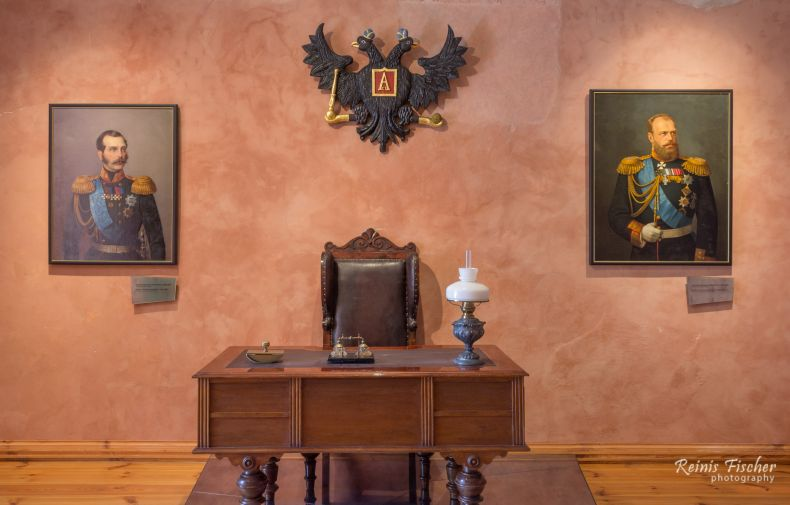 Room with portraits of Russian Tsars