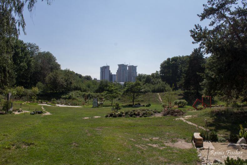 View from the botanical garden