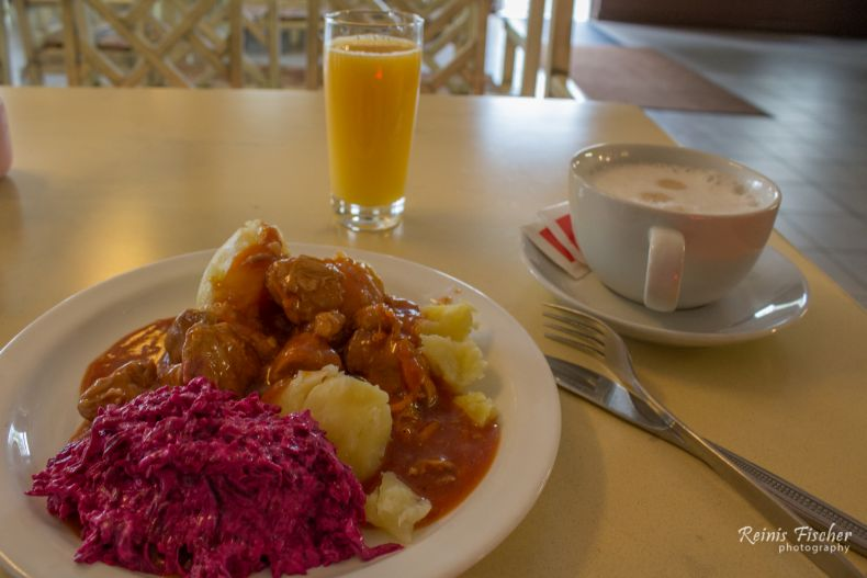Typical Latvian cuisine dish