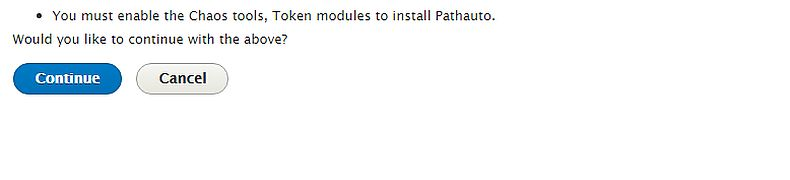 Installing Pathauto module for Drupal 8