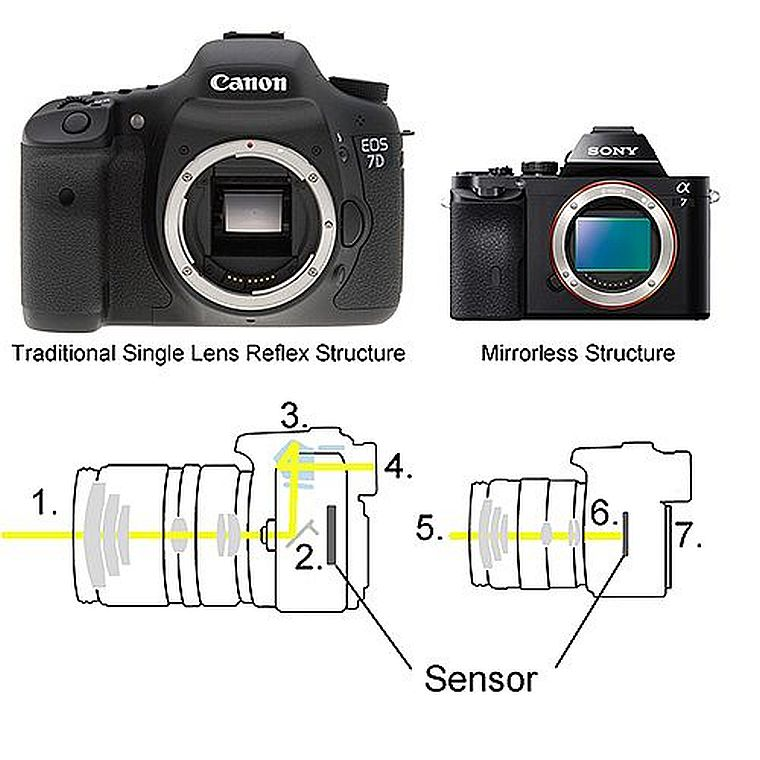 Mirorless vs DSRL camera