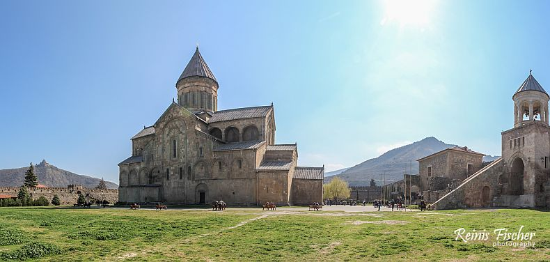 Panorama of Svetitskhoveli cathedral