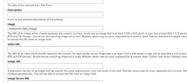 Open Graph image field settings for Drupal 8