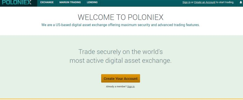 Poloniex.com website
