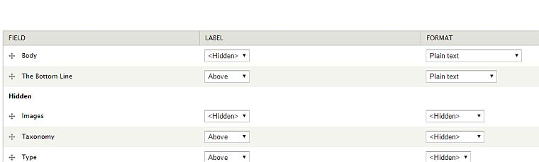 Rss Display settings for Drupal