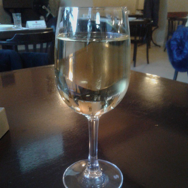 A Glass of Georgian White Wine